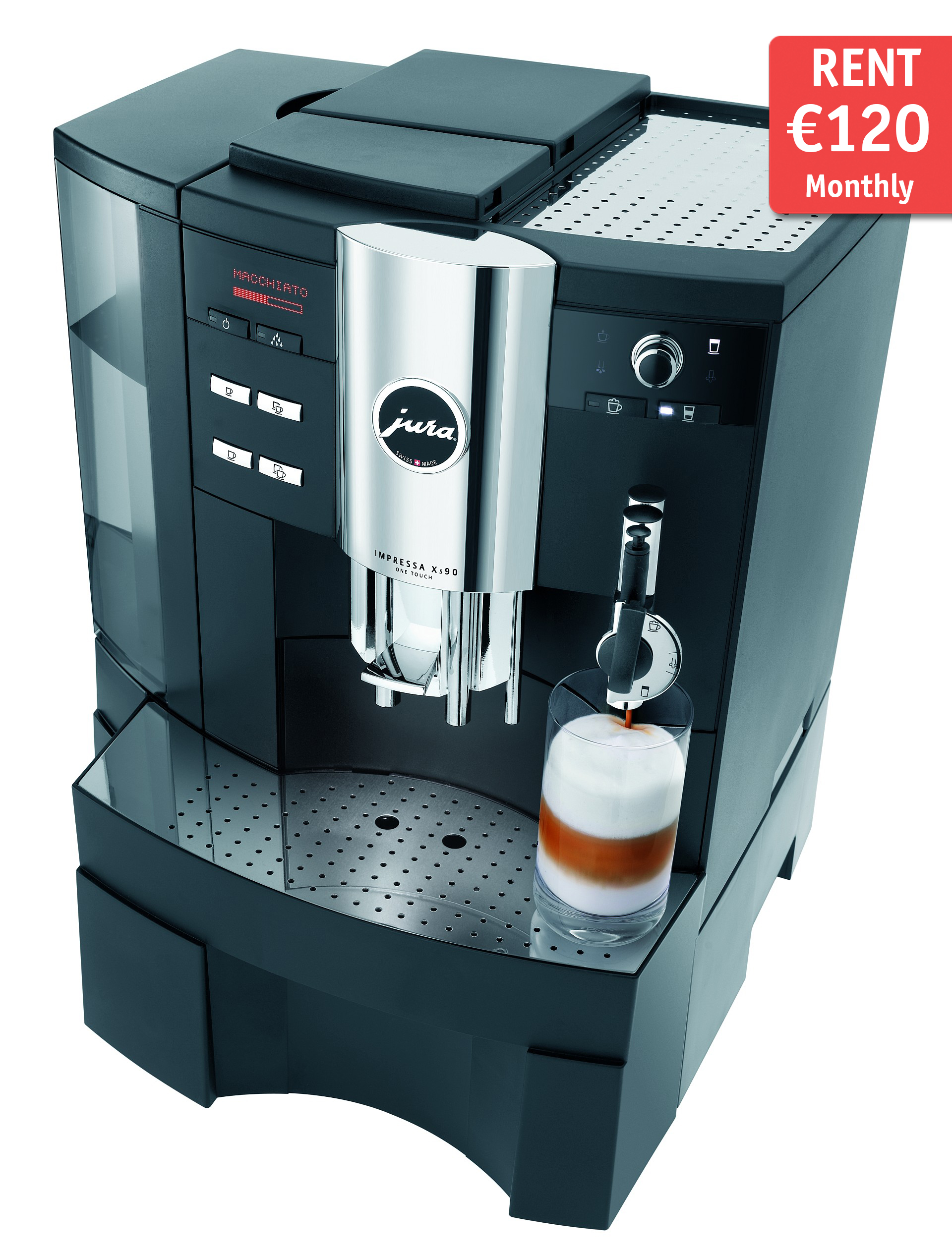 jura xs90 automatic coffee machine rental coffitascoffitas. Black Bedroom Furniture Sets. Home Design Ideas